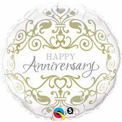 "Happy Anniversary Classic Balloon 18"""