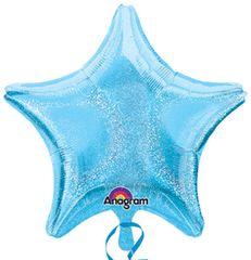 Dazzler Star 07 Pastel Blue Mylar Balloon 19in