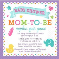 Baby Shower Trivia Napkins, 40ct