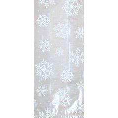 Large White Snowflake Cello Party Bags