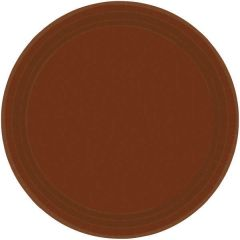 """Chocolate Brown Lunch Plates, 9"""" - 20ct"""