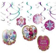 ©Disney Frozen Foil Swirl Decorations, 12ct