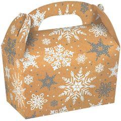 Large Snowflake Kraft Gable Boxes