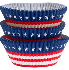 American Flag Baking Cups, 75ct