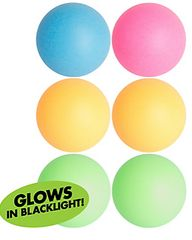 Black Light Neon Pong Balls, 6ct