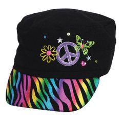 Neon Scribble Deluxe Fabric Hat