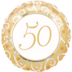 "50th Anniversary Balloon 18"""
