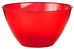 Apple Red Plastic Bowl, 24 oz.