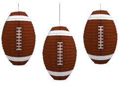 Football-Shaped Paper Lanterns