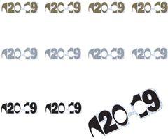 """""""2019"""" Prismatic Black, Gold & Silver Glasses, 24ct"""