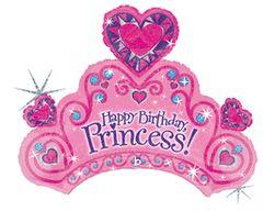 "Happy Birthday Tiara Super Shape Balloon 34"""
