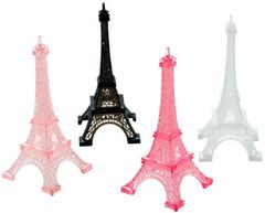 A Day in Paris Eiffel Tower Table Decorations, 4ct