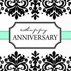 Always & Forever Anniversary Beverage Napkins, 16ct
