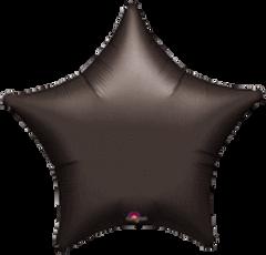 Star 01 Black Mylar Balloon 18in
