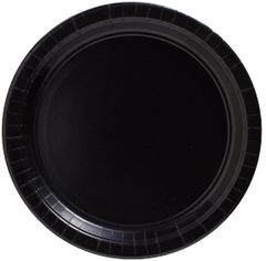 "Big Party Pack Black Lunch Paper Plates, 9"" - 50ct"