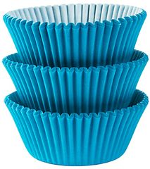 Caribbean Blue Baking Cups, 75ct