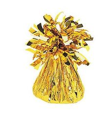 Small Foil Balloon Weight - 02 Gold