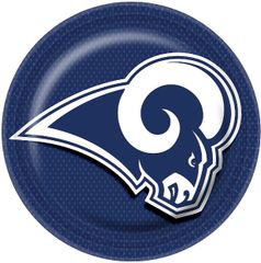 Los Angeles Rams Lunch Plates, 8ct