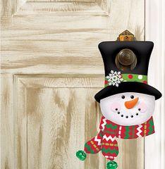 Plush Snowman Door Hanger