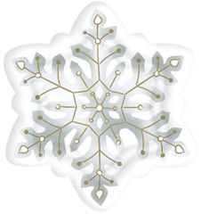Snowflake Shaped Plates, 10 1/2""