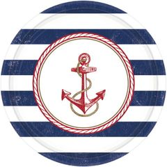 """Anchors Aweigh Round Plates, 10 1/2"""""""
