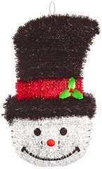 Deluxe Smiling Snowman Tinsel Decoration