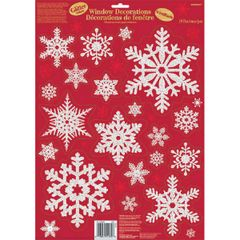Glitter Snowflake Cling Decals