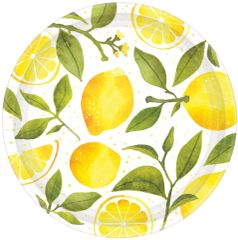 "Lemons Dinner Plates, 10 1/2"" - 8ct"