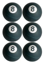 8 Ball Pong Balls, 6ct