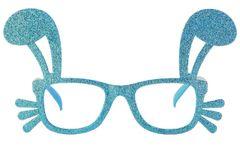 Blue Glitter Easter Bunny Glasses Frames