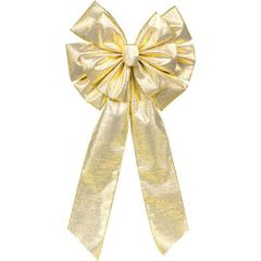 Gold Holiday Wreath Bow