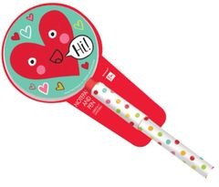 Valentine Heart Face Pad & Pen