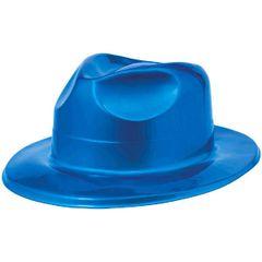 Blue Plastic Fedora