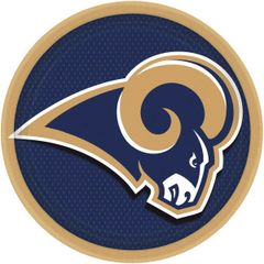 Los Angeles Rams Round Plates, 8ct