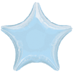 Star 21 Pastel Blue Mylar Balloon 19in