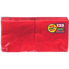 Apple Red Big Party Pack Lunch Napkins, 125ct