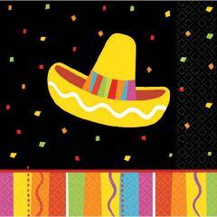 Bright Fiesta Beverage Napkins, 16ct