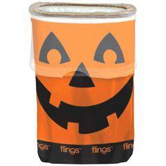 Jack-O-Lantern Flings® Bin - Pop-Up Trash Bin