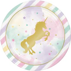 Unicorn Sparkle Luncheon Plates