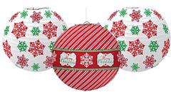Modern Christmas Printed Lanterns