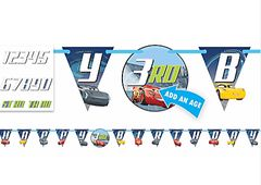 ©DISNEY CARS 3 Jumbo Add-An-Age Letter Banner