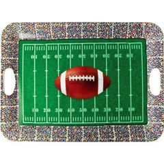 Football Large Plastic Serving Tray
