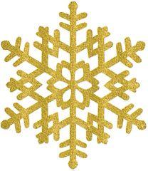 Large Gold Snowflake