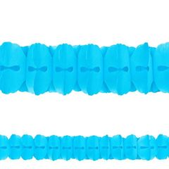 Carribbean Blue Paper Garland, 12'