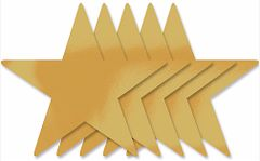 Gold Foil Star Cutouts, 5ct