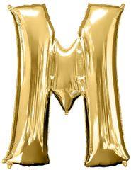 """Gold Letter M - 34"""" Mylar Balloon"""
