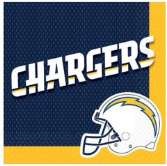 Los Angeles Chargers Luncheon Napkins, 16ct