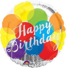 Happy Birthday Balloons 18in