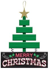 Merry Christmas Tree Sign