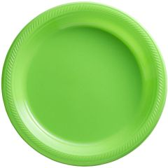 "Big Party Pack Kiwi Green Plastic Dinner Plates, 10 1/4"" - 50ct"